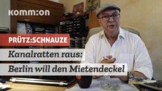 PRÜTZ:SCHNAUZE Kanalratten raus! Berlin will den Mietendeckel
