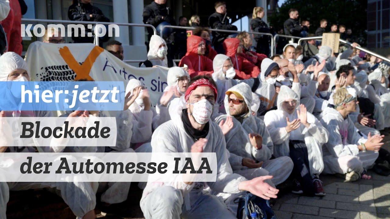 Blockade der Automesse IAA für Verkehrwende und Klimaschutz