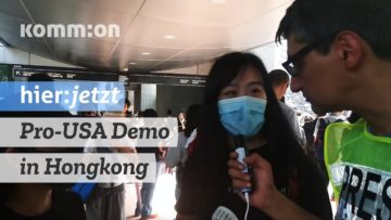 Der Feind meines Feindes: Pro-USA Demonstration in Hongkong