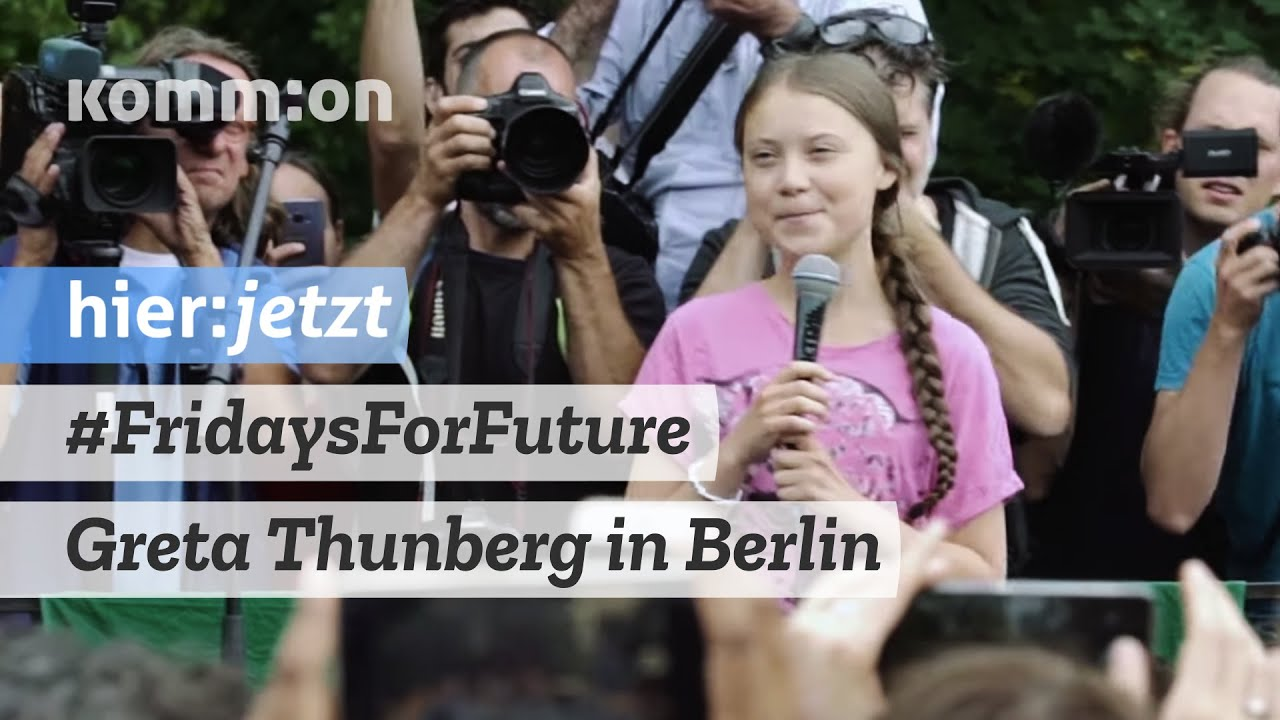 #FridaysForFuture | Greta Thunberg bei Kundgebung in Berlin – 19.07.2019