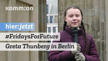 #FridaysForFuture I Greta Thunberg beim Klimastreik Berlin