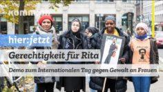Gerechtigkeit für Rita | Demo zum internationalen Tag gegen Gewalt an Frauen