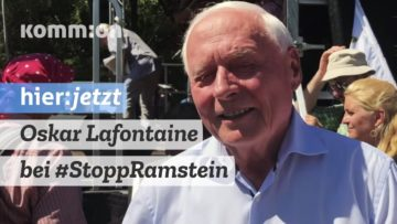 Oskar Lafontaine bei Stopp Ramstein: Friedensbewegung muss stärker werden!