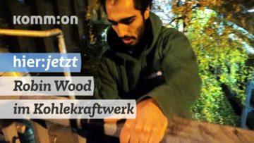 Robin Wood im Kohlekraftwerk von Vattenfall in Berlin für Klimagerechtigkeit