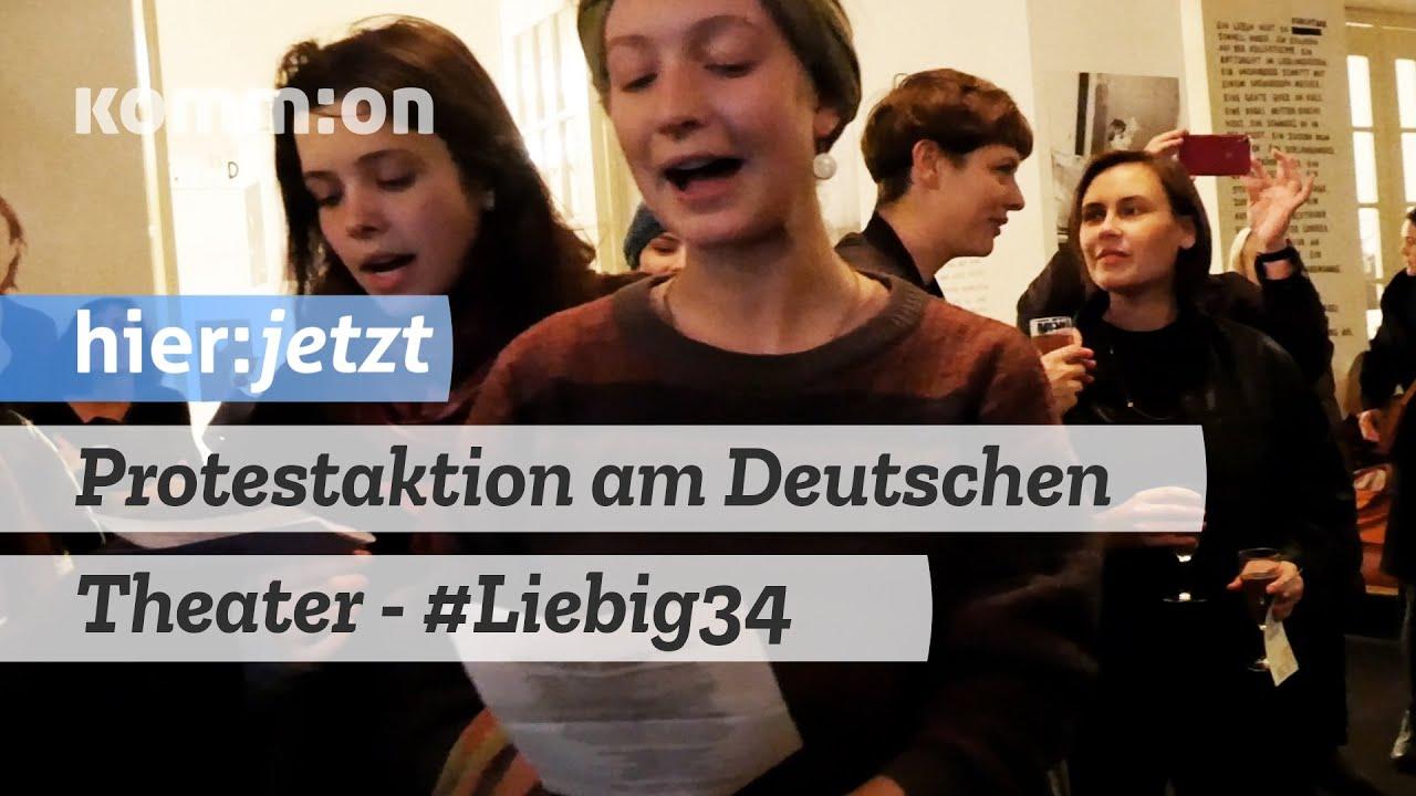 Protestaktion am Deutschen Theater #Liebig34