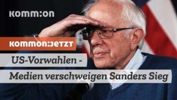 KOMMON:JETZT US-Vorwahlen – Medien verschweigen Sanders Sieg in Iowa
