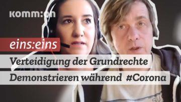 EINS:EINS Matthias Monroy: Verteidigung der Grundrechte – Demonstrieren während #Corona