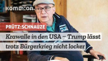 Kommentar zu Krawallen in den USA – Trump lässt trotz Bürgerkrieg nicht locker