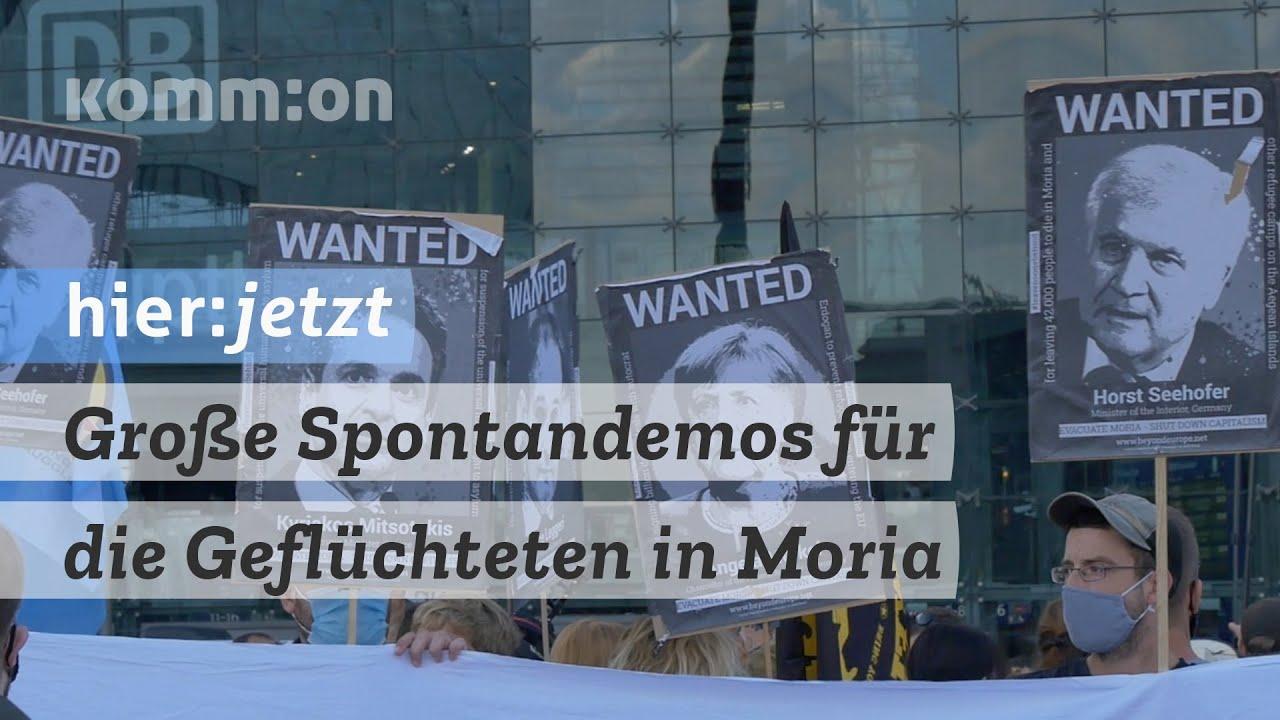 Große Spontandemos für die Geflüchteten in Moria: Evakuiert das Lager, wir haben Platz!