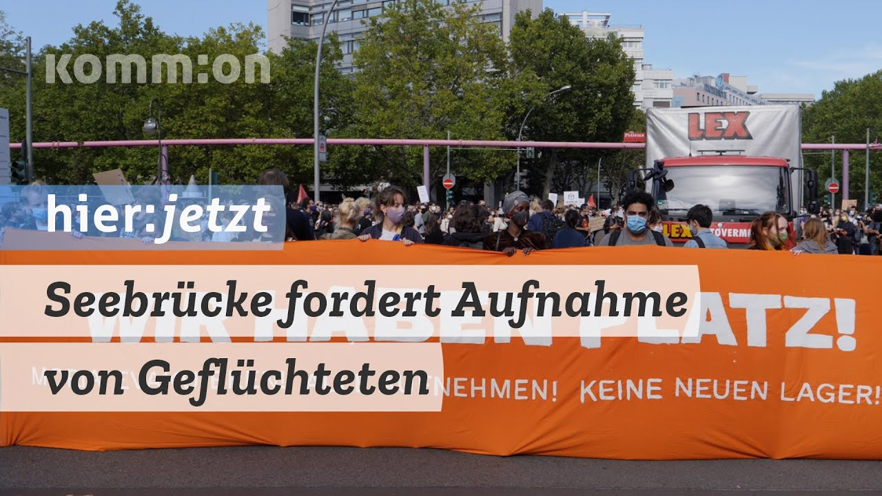 """Seebrücke fordert Aufnahme von Geflüchteten. """"Wir haben Platz"""" – Demo am 20.09.2020"""