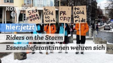 Riders on the Storm – Essenslieferant:innen wehren sich (DE/ENG)